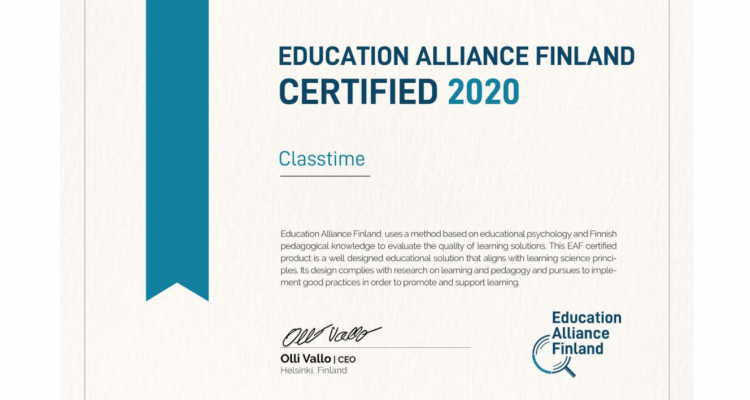 Education Alliance Finland Certification